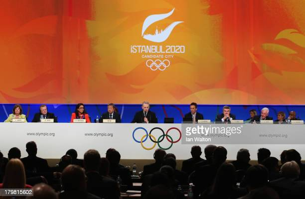President of the IOC Jacques Rogge speaks during the Istanbul 2020 bid presentation during the 125th IOC Session 2020 Olympics Host City Announcement...