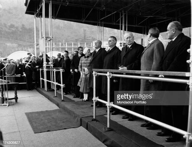 President of the Italian Republic Giuseppe Saragat, President of the Council of Ministers of the Italian Republic Aldo Moro and some other...