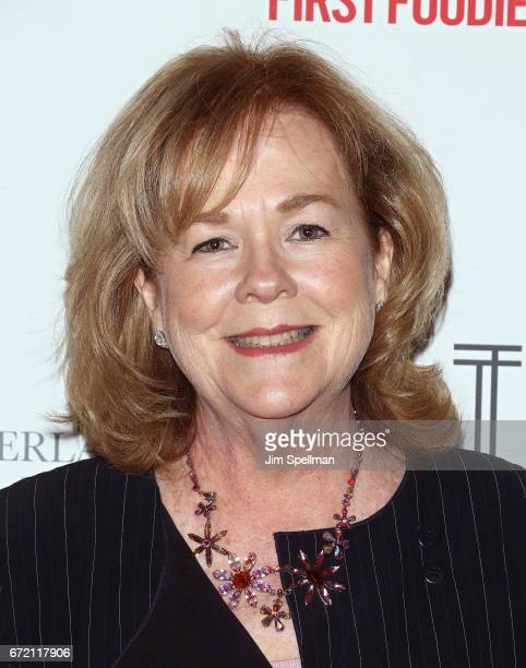 President of the James Beard Foundation Susan Ungaro attends the James Beard America's First Foodie NYC premiere at iPic Fulton Market on April 23...