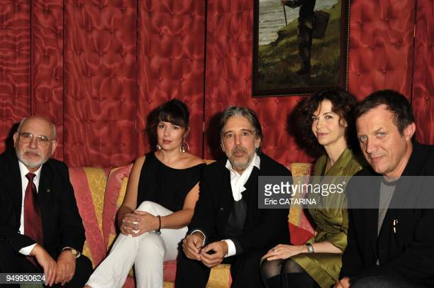 President of the Jury Ariel Zeitoun surrounded by jury's members Carmelo Romero Anna Galiena Alfred Lot and Delphine Gleize