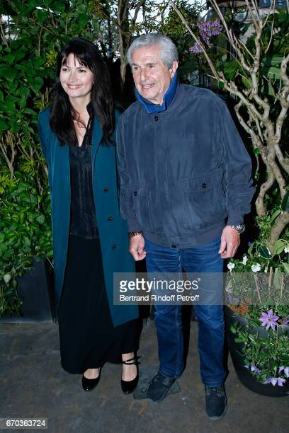 President of the Jury Claude Lelouch and Valerie Perrin attend 'La Closerie des Lilas' Literary Awards 2017 at La Closerie des Lilas on April 19 2017...