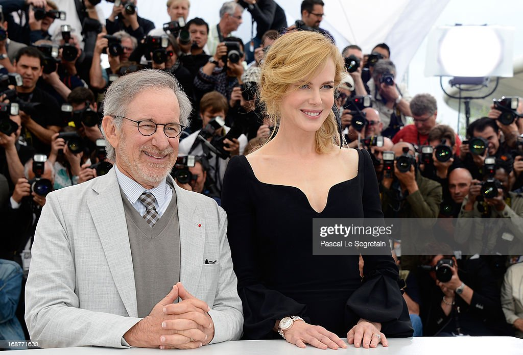 President of the Jury, director Steven Spielberg and Actress Nicole Kidman attend the Jury Photocall during the 66th Annual Cannes Film Festival at the Palais des Festivals on May 15, 2013 in Cannes, France.