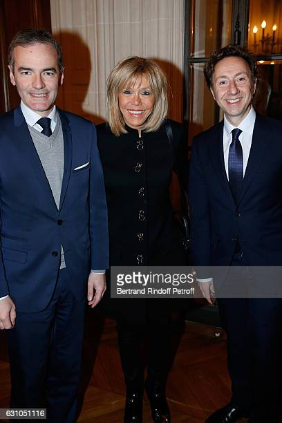 President of the Jury for the Prize of Stephane Bern's Foundation for 'L'Histoire' Franck Ferrand Brigitte Macron and founder Stephane Bern attend...