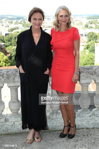 President of the Jury Jacqueline Bisset and President of the Student Jury Claire Borotra attend the 12th Angouleme FrenchSpeaking Film Festival Day...