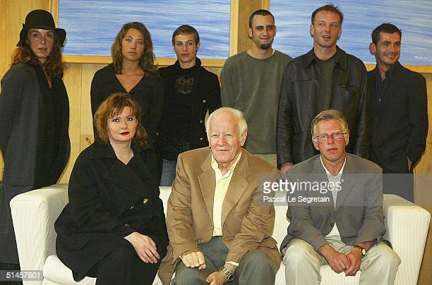 President of the Jury, Jacques Chancel poses with jury members, Catherine Jacob, Kieran O'Brien and 2nd row from left to right, Philippine Leroy...