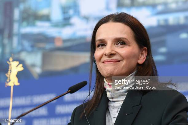 President of the Jury Juliette Binoche at the International Jury press conference during the 69th Berlinale International Film Festival Berlin at...
