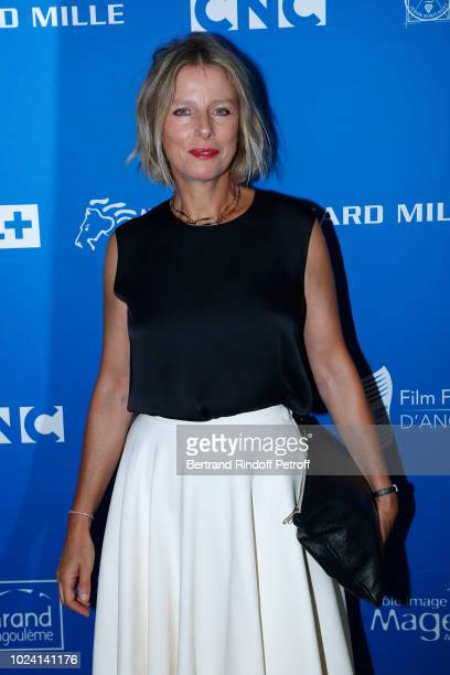 President of the Jury, Karin Viard, dressed in Dior, attends the Closing Ceremony of the 11th Angouleme French-Speaking Film Festival on August 26,...