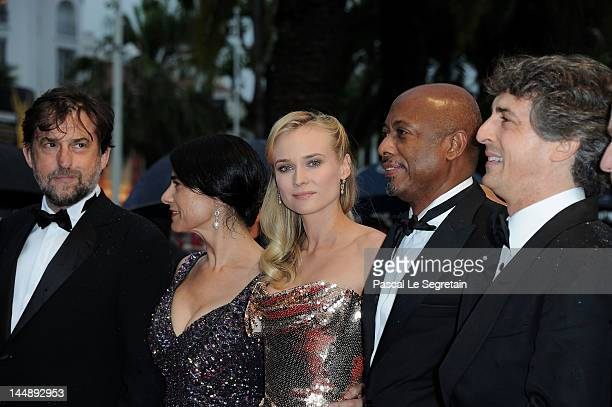 """President of the Jury Nanni Nanni Moretti, jury members Diane Kruger, Hiam Abbass, Raoul Peck and Alexander Payne attends the """"Amour"""" premiere during..."""