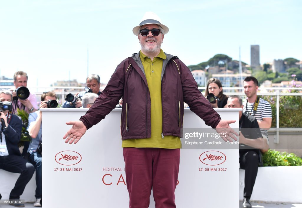 President of the jury Pedro Almodovar attends the Jury photocall during the 70th annual Cannes Film Festival at Palais des Festivals on May 17, 2017 in Cannes, France.