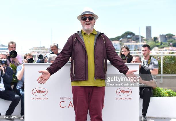 President of the jury Pedro Almodovar attends the Jury photocall during the 70th annual Cannes Film Festival at Palais des Festivals on May 17, 2017...