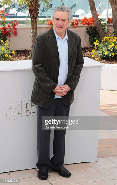 President of the Jury Robert De Niro attends the Jury Photocall at the Palais des Festivals during the 64th Cannes Film Festival on May 11, 2011 in...