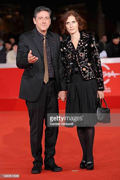 "President of the Jury Sergio Castellitto and Margaret Mazzantini attend the ""Burke & Hare"" premiere during The 5th International Rome Film Festival..."