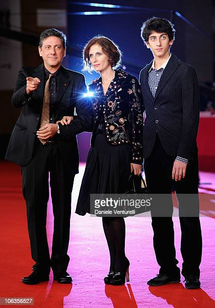 "President of the Jury Sergio Castellitto, Margaret Mazzantini and Pietro Castellitto attend the ""Burke & Hare"" Premiere during the 5th International..."