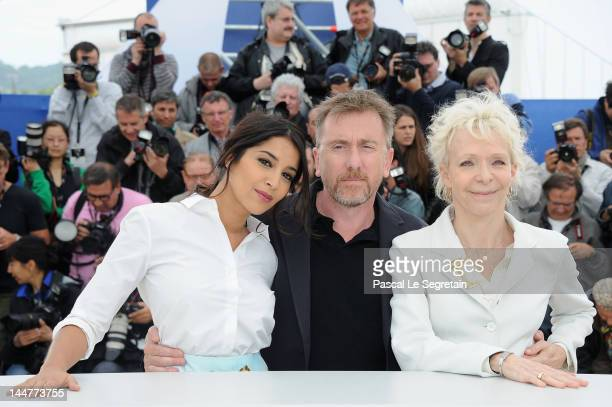 President of the Jury Tim Roth and Jurors Leila Bekhti and Tonie Marshall pose at the Jury Un Certain Regard photocall during the 65th Annual Cannes...