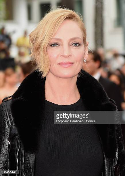President of the jury 'Un Certain Regard' Uma Thurman attends the 'Loveless ' screening during the 70th annual Cannes Film Festival at Palais des...