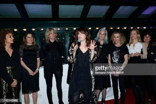 """President of the Jury, writer Leila Slimani, Jessica Nelson, Pauline Lefevre, Price of the """"Closerie des Lilas 2019"""" for """"Les entenebres"""", writer..."""