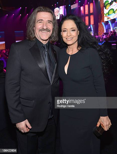 President of The Latin Recording Academy Luis Cobos and actress Sonia Braga during the 2012 Person of the Year honoring Caetano Veloso at the MGM...