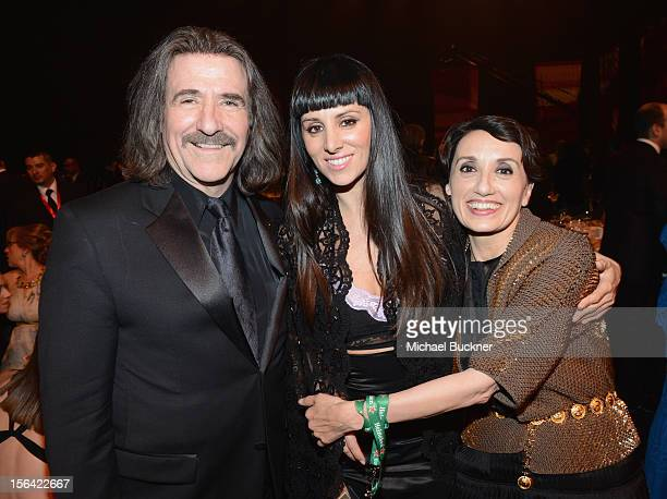 President of The Latin Recording Academy Luis Cobos and singer Mala Rodriguez the 2012 Person of the Year honoring Caetano Veloso at the MGM Grand...