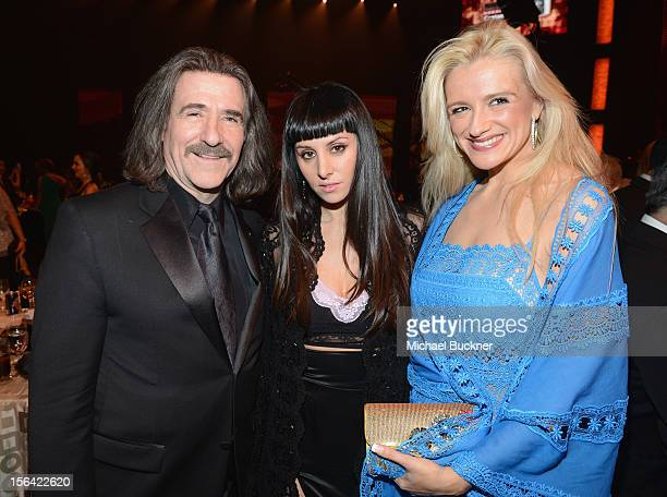 President of The Latin Recording Academy Luis Cobos singer Mala Rodriguez and Patricia Cobos arrive at the 2012 Person of the Year honoring Caetano...