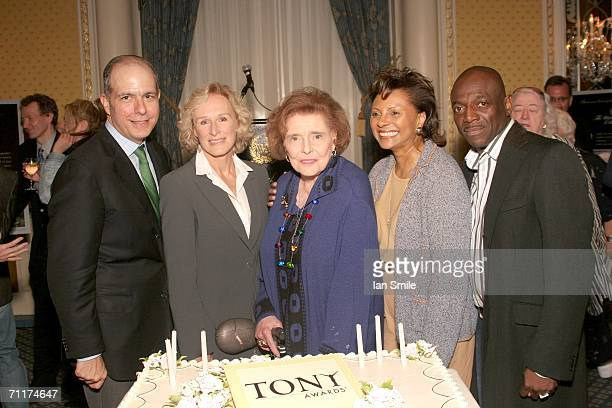 President of The League of American Theaters and Producers Jed Bernstein actress Glenn Close Patricia Neal actress Leslie Uggams and actor Hinton...