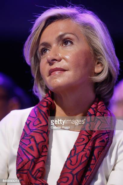 President of the ëledeFrance Valerie Precresse looks on during the 131th IOC Session 2024 2028 Olympics Hosts Announcement at Lima Convention Centre...