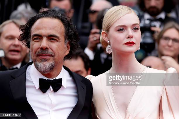 President of the Main competition jury Alejandro Gonzalez Inarritu and Jury member Elle Fanning, wearing Chopard jewels attends the opening ceremony...