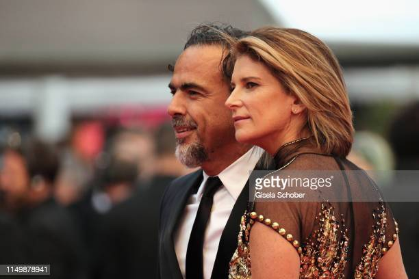 President of the Main competition jury Alejandro Gonzalez Inarritu and María Eladia Hagerman attend the screening of Pain And Glory during the 72nd...