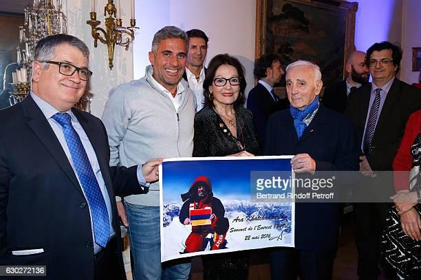 President of the 'Mediterranean Literature Center' Andre Bonet Ara Khatchadourian Bernard Thomasson Nana Mouskouri Stephane Bern Charles Aznavour and...
