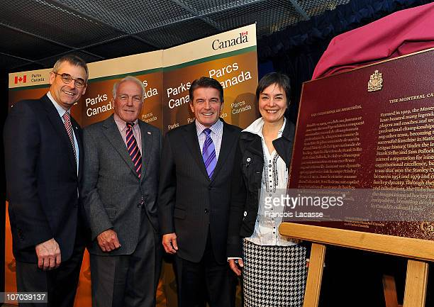 President of the Montreal Canadiens Mr Pierre Boivin former captain Henri Richard The Honourable Gary Lunn Minister of State for Sport and Mrs Tania...