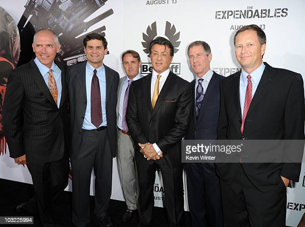President of the Motion Picture Group and coCOO Joe Drake Lionsgate's Jason Constantine producer Kevin King director/writer/actor Sylvester Stallone...