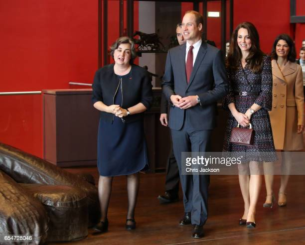 President of the museum Laurence Des Cars shows Prince William Duke of Cambridge and Catherine Duchess of Cambridge around at Musee d'Orsay during an...