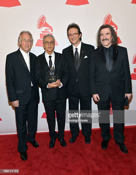 President of the National Academy of Recording Arts and Sciences Neil Portnow honoree Caetano Veloso CEO of the Latin Academy of Recording Arts...