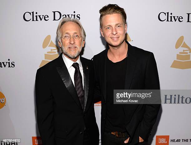 President of the National Academy of Recording Arts and Sciences Neil Portnow and singer Ryan Tedder of OneRepublic attend the PreGRAMMY Gala and...