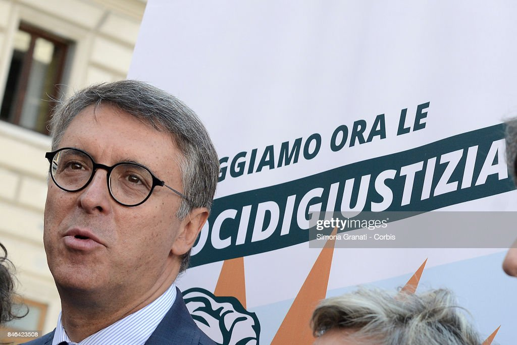 President of the National Anti-Corruption Authority Raffaele Cantone during the demonstration in Pantheon Square to solicit approval of a whistleblower law, against corruption, on September 13, 2017 in Rome, Italy.