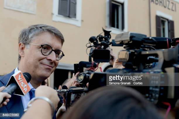 President of the National AntiCorruption Authority Raffaele Cantone during the demonstration in Pantheon Square to solicit approval of a...