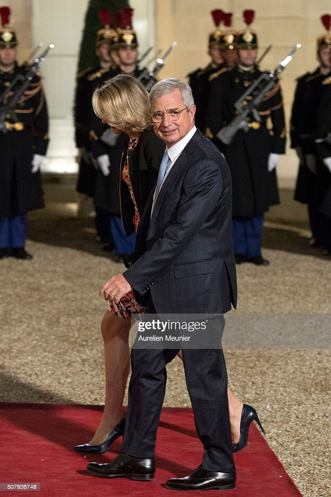 President of the National Assembly Claude Bartolone and his wife Veronique Bartolone arrive at Elysee Palace as French President Francois Hollande receives the Cuban President Raul Castro for a State Diner on February 1, 2016 in Paris, France. During the visit of Cuban President in Franche, around a dozen commercial, tourism and fair trade contracts were signed as France want to be the leader on the Cuban market.