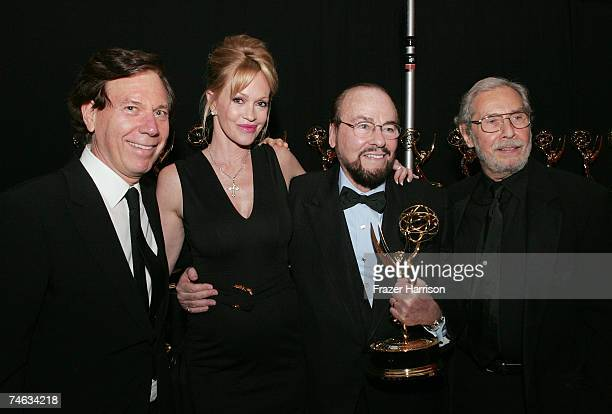 President of the National Television Academy Peter Price actress Melanie Griffith producer/host James Lipton with his Lifetime Achievement Award and...