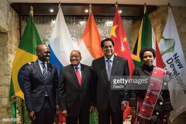 President of the New Development Bank Mr KV Kamath Minister of International Relations and Cooperation Maite NkoenaMashabane Minister of Finances...