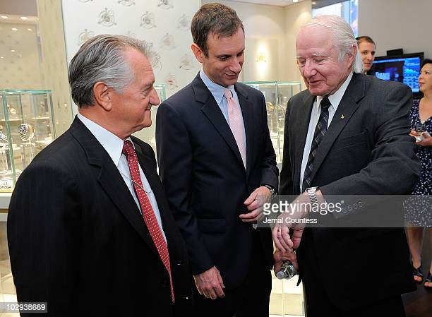 President of the New York Association of American Russian Relations William J D'Eletto general manager Tourbillon Michael Winston and astronaut Vance...