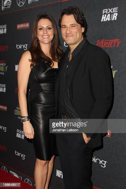 President of the Noreen Fraser Foundation Michelle McBride and CEO of Mr Skin Jim McBride arrive at Variety's 3rd annual Power of Comedy event...