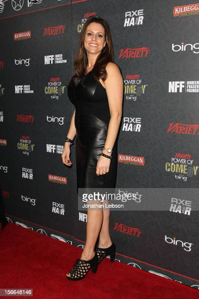 President of the Noreen Fraser Foundation Michelle McBride arrives at Variety's 3rd annual Power of Comedy event presented by Bing benefiting the...