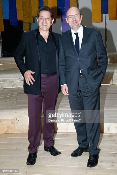 President of the Palais de Tokyo Jean de Loisy and President of Museum of Modern Art of Paris Fabrice Hergott attend the Friend's of Palais De...