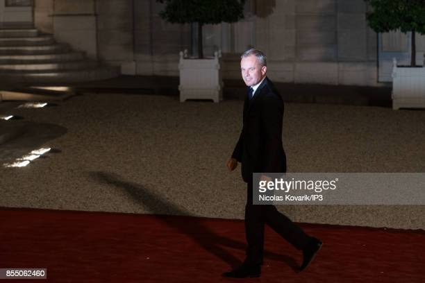 President of the Parliament Francois de Rugy attends a State dinner offered by French President Emmanuel Macron in honor with Lebanese President...