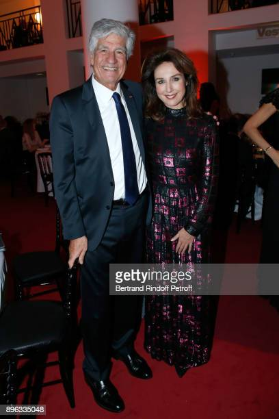 President of the PasteurWeizmann Council Maurice Levy and actress Elsa Zylberstein attend the Gala evening of the PasteurWeizmann Council in Tribute...