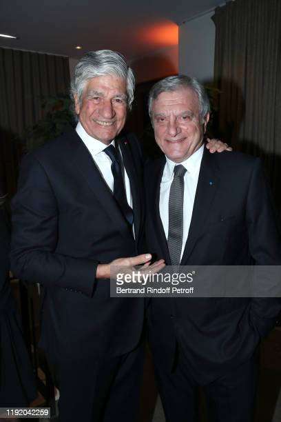 President of the Pasteur-Weizmann Council Maurice Levy and Chief Executive Officer of LVMH Fashion Group Sidney Toledano attend the Gala evening of...