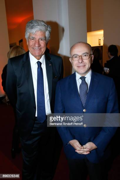President of the PasteurWeizmann Council Maurice Levy and Former French Prime Minister Bernard Cazeneuve attend the Gala evening of the...