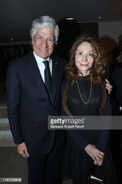 President of the PasteurWeizmann Council Maurice Levy and Monique CantoSperber attend the Gala evening of the PasteurWeizmann Council at Pavillon...