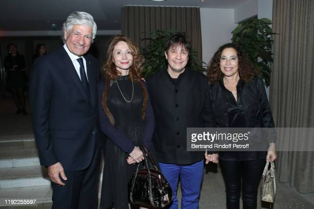 President of the PasteurWeizmann Council Maurice Levy Monique CantoSperber Abdel Abdessamad and Tila Rudel attend the Gala evening of the...