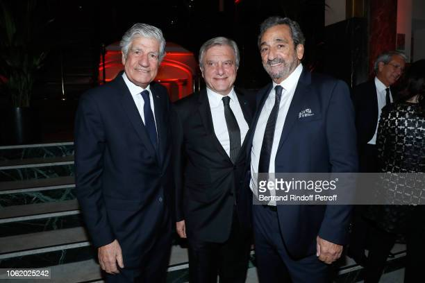 President of the PasteurWeizmann Council Maurice Levy Sidney Toledano and Edmond Cohen attend the Gala evening of the PasteurWeizmann Council at...