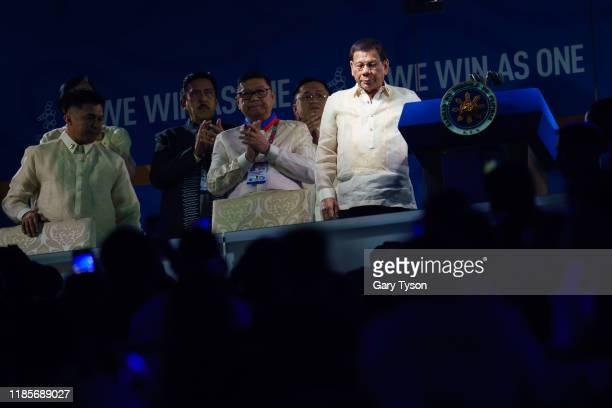 President of the Philippines, Rodrigo Duterte declares the games open at the Opening ceremony of the Southeast Asian Games at the Philippines Arena...